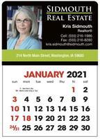 Full Color Stick Up, English Grid Calendar