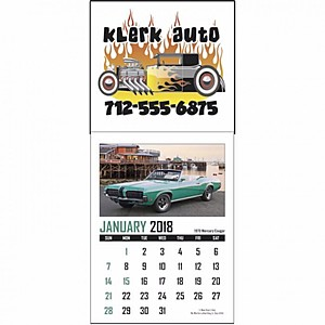 Full Color Stick Up, Memorable Muscle Grid Calendar