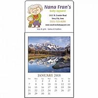 Full Color Stick Up, Scenic Grid Calendar
