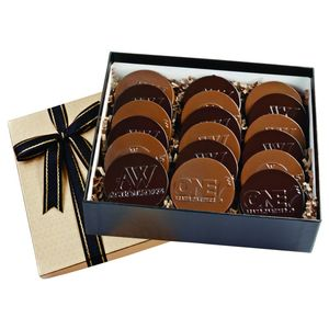 Cookie Gift Box With 18 Round Cookies