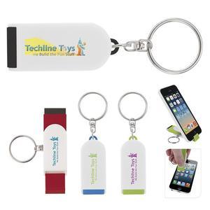 Phone Holder/Screen Cleaner Keychain