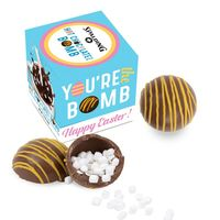 Hot Chocolate Bomb With Yellow Drizzle   Easter Box