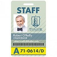 Vertical Name Badge