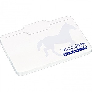 "4"" X 3"" Die Cut Adhesive Notepad   Briefcase"