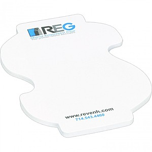 "4"" X 3"" Die Cut Adhesive Notepad   Dollar Sign"