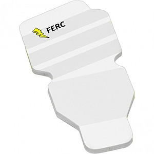 "4"" X 3"" Die Cut Adhesive Notepad   Fluorescent Bulb"