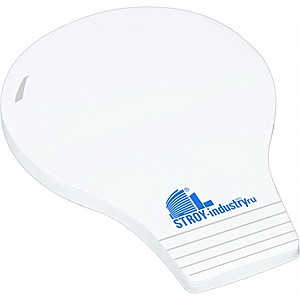 "4"" X 3"" Die Cut Adhesive Notepad   Light Bulb"