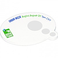 "4"" X 3"" Die Cut Adhesive Notepad   Speech Bubble"