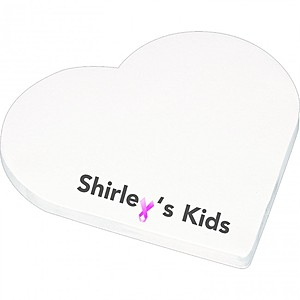 "4"" X 4"" Die Cut Adhesive Notepad   Heart"