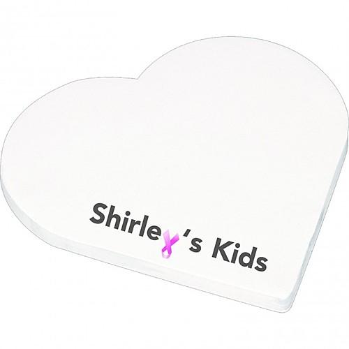 "4"" X 4"" Die Cut Adhesive Notepad   Heart"