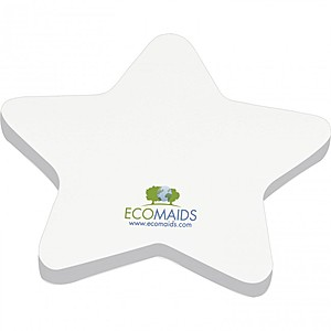 "4"" X 4"" Die Cut Adhesive Notepad   Star"