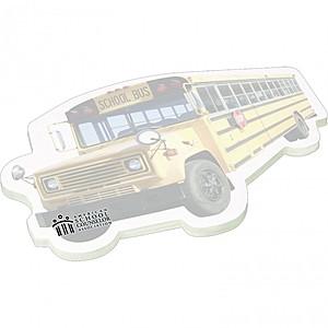"""4"""" X 6"""" Die Cut Adhesive Notepad   Bus"""