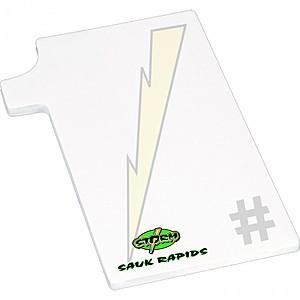 """4"""" X 6"""" Die Cut Adhesive Notepad   Number One"""