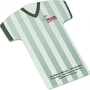 "4"" X 6"" Die Cut Adhesive Notepad   Tshirt"