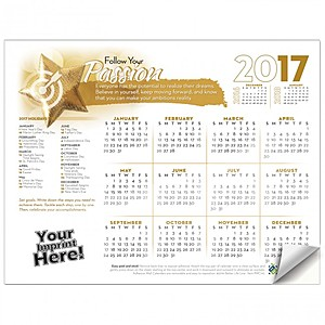 Adhesive Wall Calendar   2017 Follow Your Passion (Motivational)