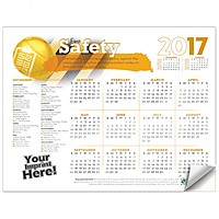 Adhesive Wall Calendar   2017 Safety First (Safety)