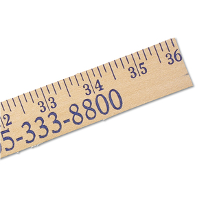 Heavy Duty Yardsticks   Natural Finish