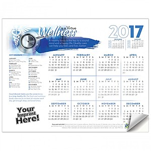 Adhesive Wall Calendar   2017 Wellness Is A Virtue (Hospital)