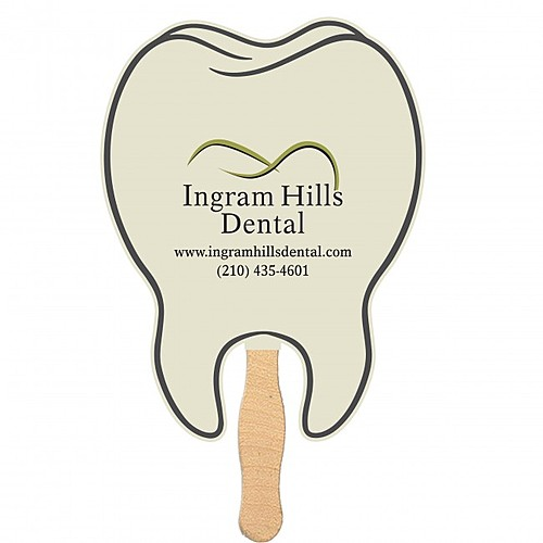 Photo of Handheld Tooth Shaped Fan   Mini