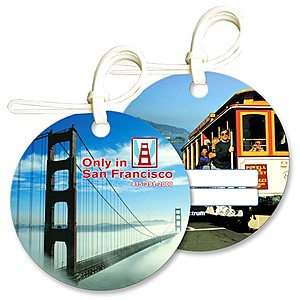 Bag & Luggage Tag   Round   Full Color