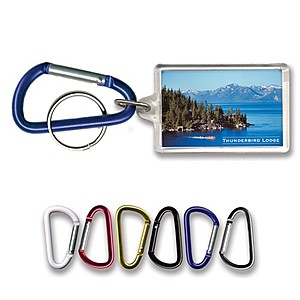 Key Tag   Rectangle W/Carabiner Clip   Clear Acrylic   Full Color