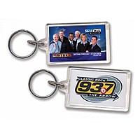 Key Tag   Rectangle W/Tab   Clear Acrylic   Full Color
