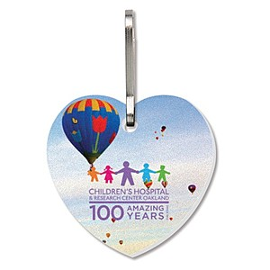 Zipper Pull   Large Heart   Full Color