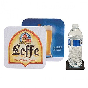 Square Soft Rubber & Jersey Skid Resistant Neoprene Coaster W/ Full Color Dye Sublimation