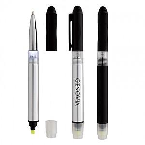 Illuminate 4 In 1 Highlighter Stylus Pen With Light