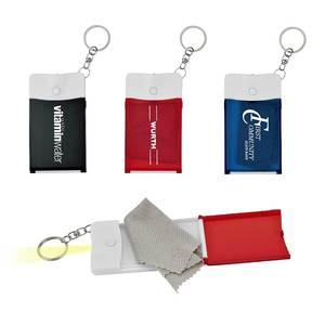 Cloth & Flashlight Keychain