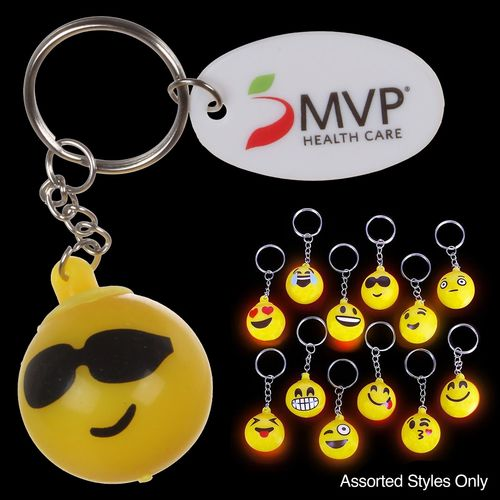 Light Up Emoji Keychain