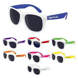 White Frame Classic Sunglasses