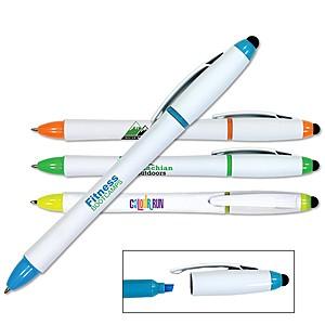 3 In 1 Highlighter Pen/Stylus, Full Color Digital