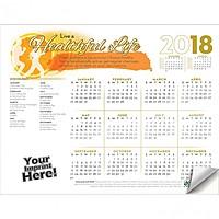 Adhesive Wall Calendar   2018 Live A Healthful Life (Health & Wellness)