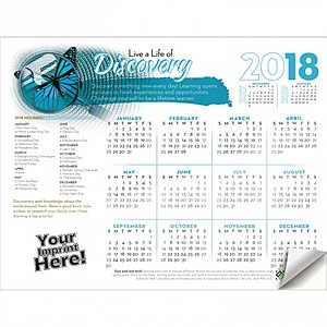 Adhesive Wall Calendar   2018 Live A Life Of Discovery (Education)