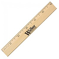 "6"" Clear Lacquer Beveled Wood Ruler"