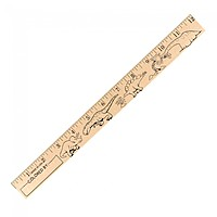 "Dinosaurs ""U"" Color Rulers   Natural Wood Finish"