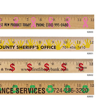 Dollar Sign/Financial Background Rulers   Clear Lacquer Finish