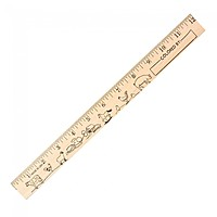 "Farm Animals ""U"" Color Rulers   Natural Wood Finish"