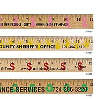 Handprint Background Rulers   Clear Lacquer Finish