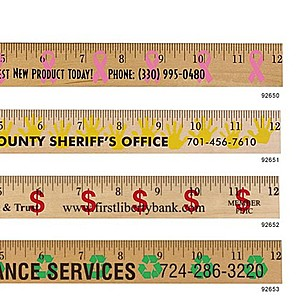 Ribbon Background Rulers   Clear Lacquer Finish