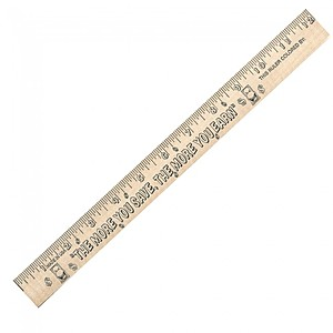 "Save/Earn ""U"" Color Rulers   Natural Wood Finish"
