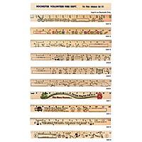 "Sports ""U"" Color Rulers   Natural Wood Finish"
