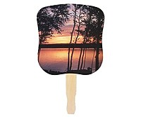 Stock Design Hand Fan   Sunset