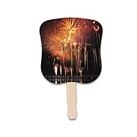 Stock Design Hand Fan Fireworks