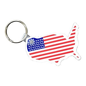 Usa Key Fob With Flag