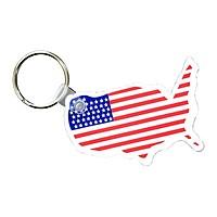 Usa Key Fob With Flag
