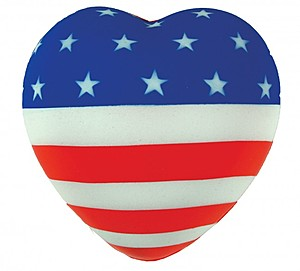 American Flag Heart Squeezies