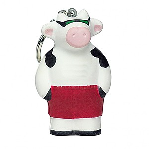 Cool Beach Cow Squeezie Keyring