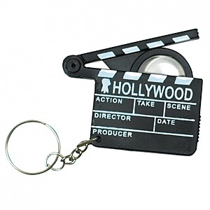 Hollywood Magnifying Glass Keyring